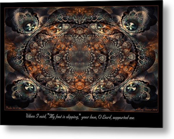 Slipping Metal Print