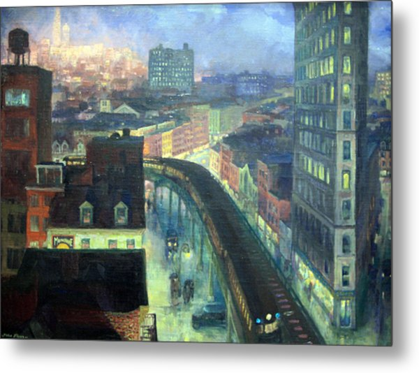 Sloan's The City From Greenwich Village Metal Print