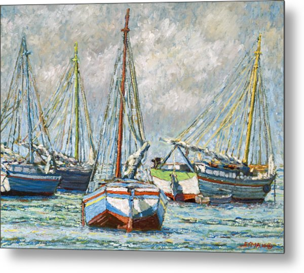 Sloops At Rest Metal Print
