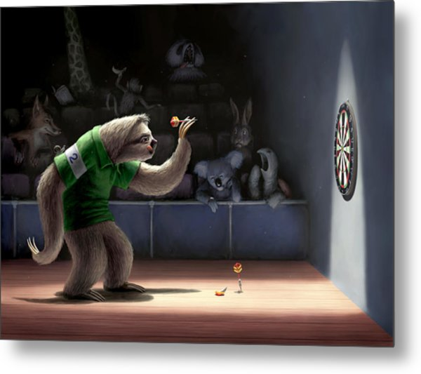 Sloth Darts Metal Print