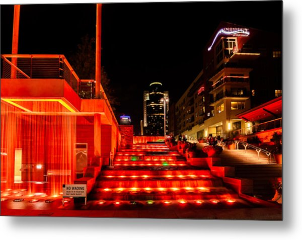 Smale Park At Night Metal Print