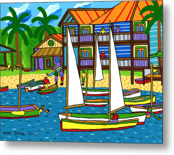 Small Boat Regatta - Cedar Key Metal Print