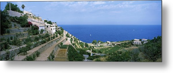 Small Coastal Village, Deia, Majorca Metal Print