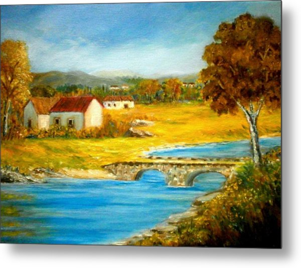 Small Cottage Metal Print