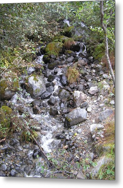 Small Glacial Stream Metal Print