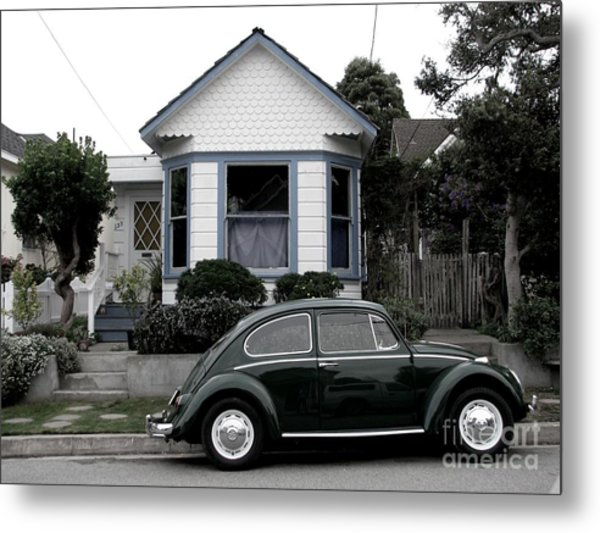 Small House With A Bug Metal Print