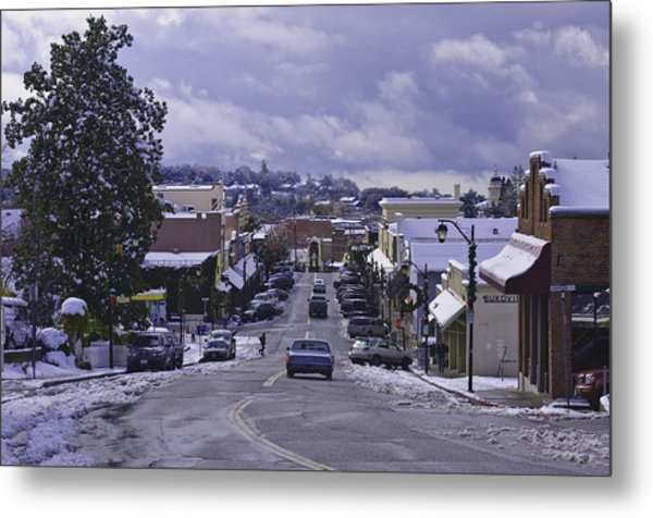 Metal Print featuring the photograph Small Town America by Sherri Meyer
