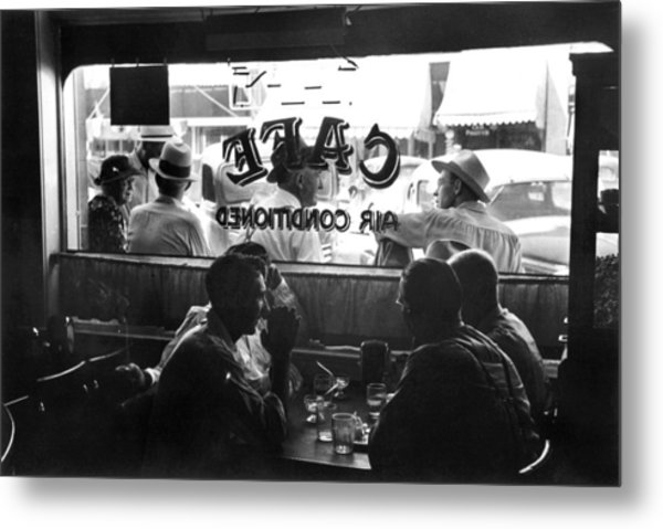 Small Town Cafe, 1941 Metal Print by Granger