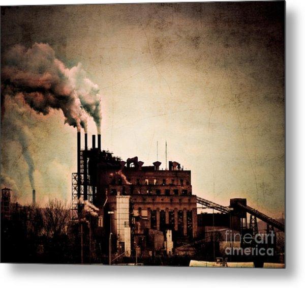 Smelter Metal Print by Arne Hansen