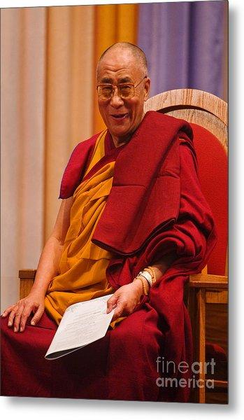 Smiling Dalai Lama Metal Print
