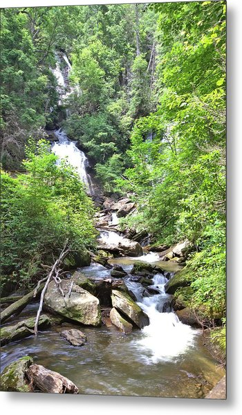 Smith Creek Downstream Of Anna Ruby Falls - 3 Metal Print