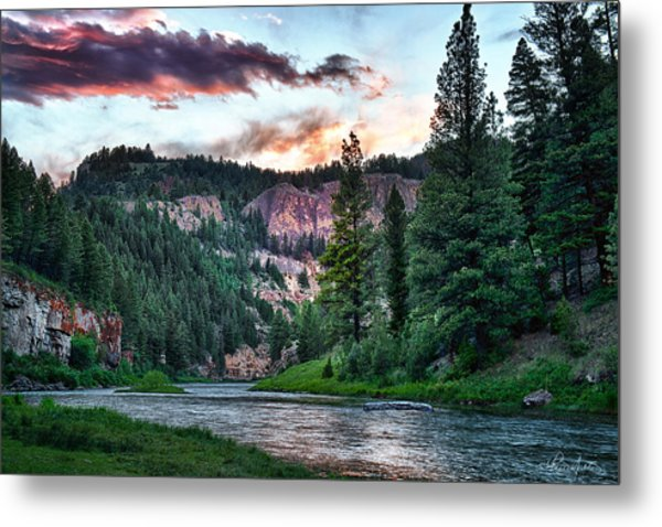 Smith River At Dusk Metal Print