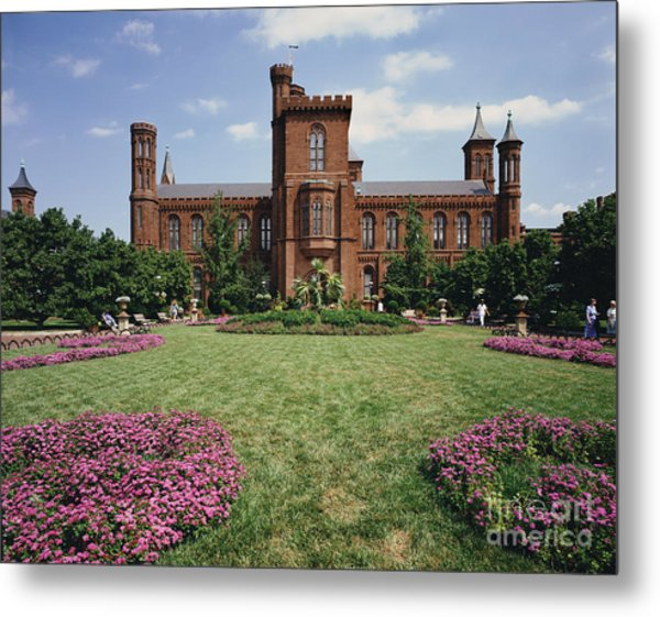Smithsonian Institution Building Metal Print