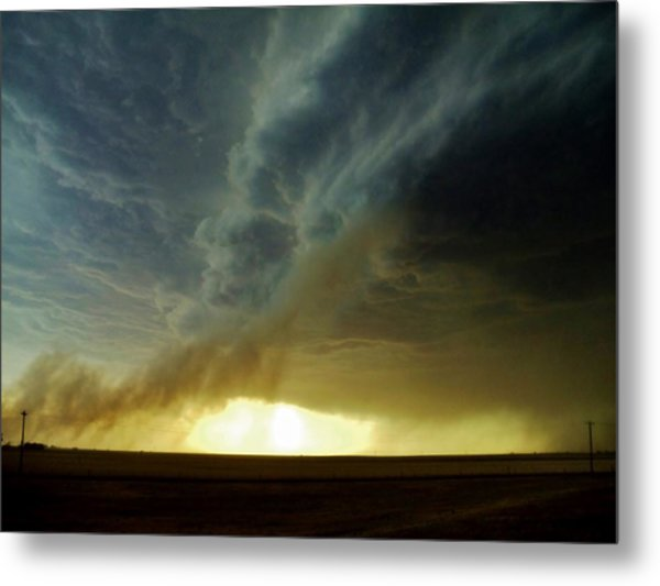 Smoke And The Supercell Metal Print