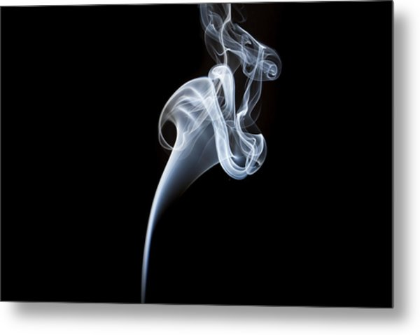 Smoke Flower Metal Print