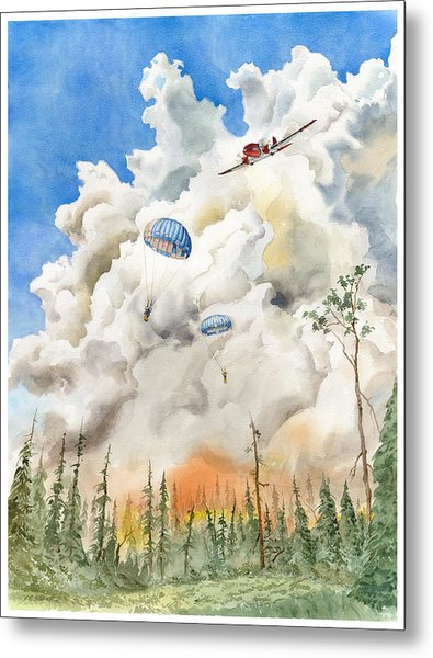 Smoke Jumpers Metal Print