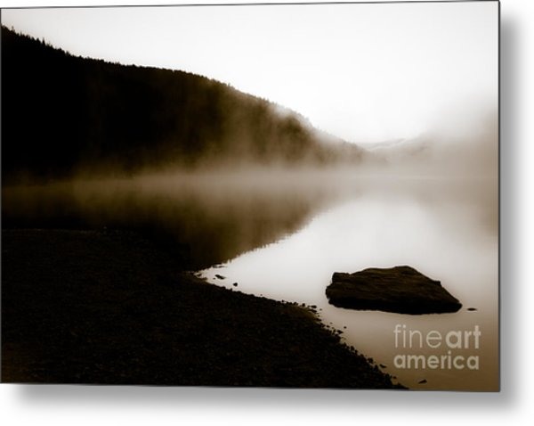 Smoke On Turquoise Lake Colorado Metal Print