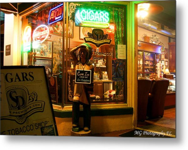 Smoke Shop Metal Print