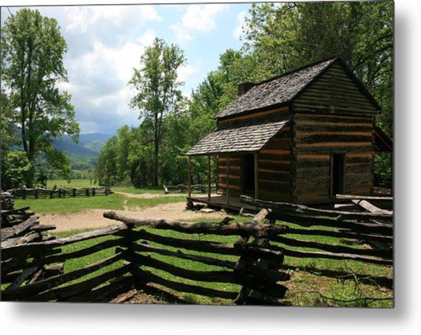 Smoky Mountain Cabin Metal Print