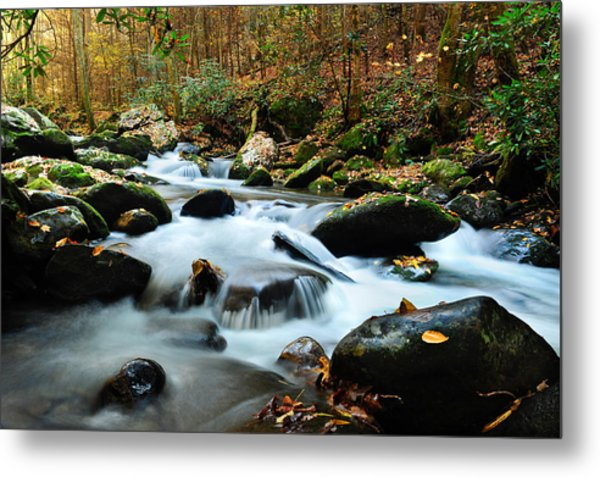 Smokey Mountain Creek Metal Print