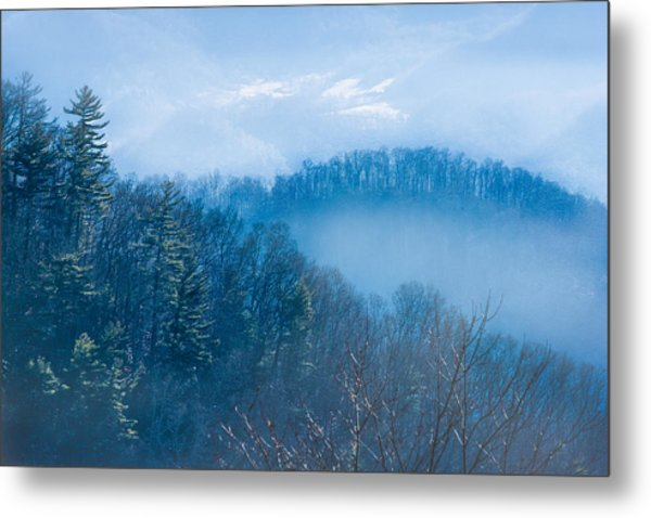 Smokies In Blue Metal Print