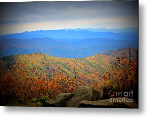 Smokies In The Autumn Metal Print