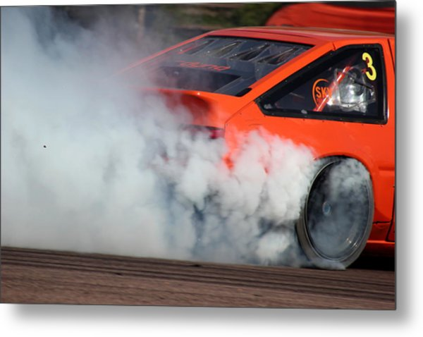 Smoking Ae86 Metal Print