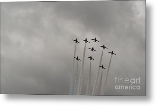 Smoking Planes Metal Print