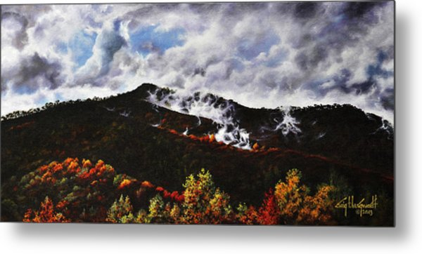 Smoky Mountain Angel Hair Metal Print