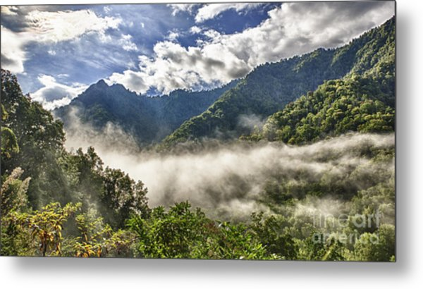 Smoky Mountain Chimney Tops Metal Print