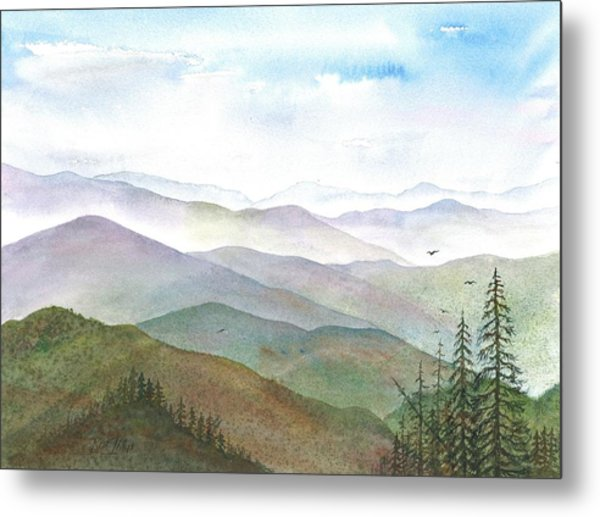 Smoky Mountain Morning Metal Print by Rosie Phillips