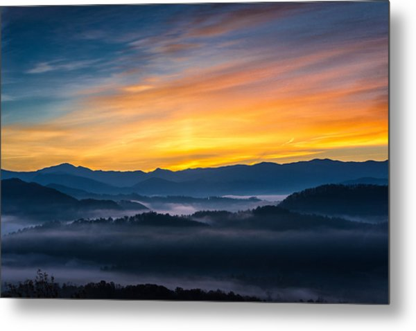 Smoky Mountain Sunrise 1 Metal Print