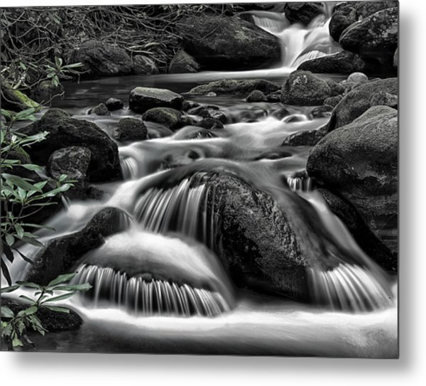 Smoky Mountains Cascades Metal Print