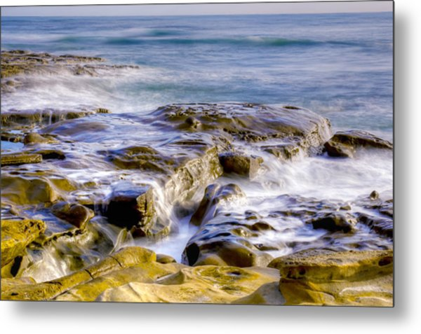 Smoky Rocks Of La Jolla Metal Print