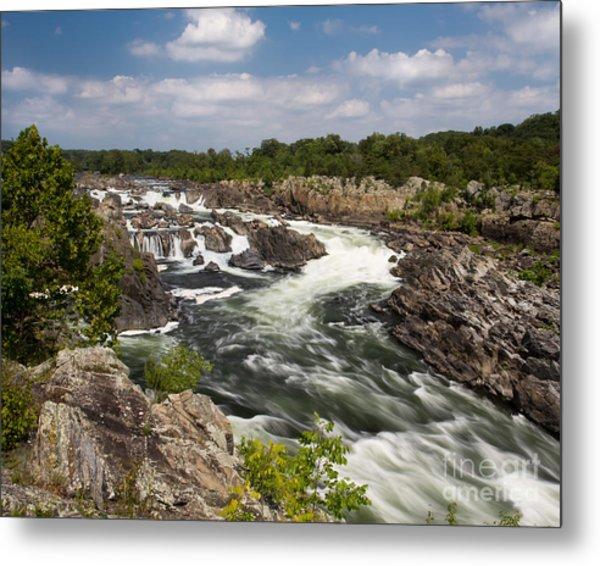 Smooth Flow At Great Falls  Metal Print