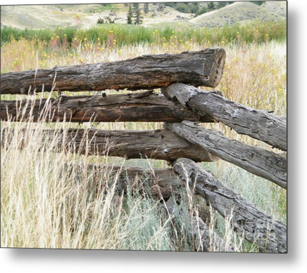 Snake Fence And Sage Brush Metal Print