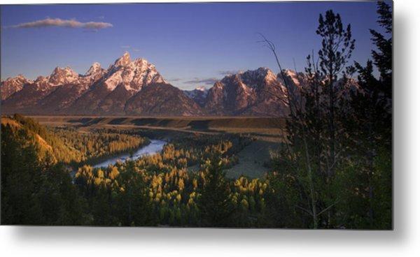 Snake River Panorama Metal Print by Andrew Soundarajan