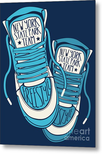 Sneakers Graphic Design For Tee Metal Print