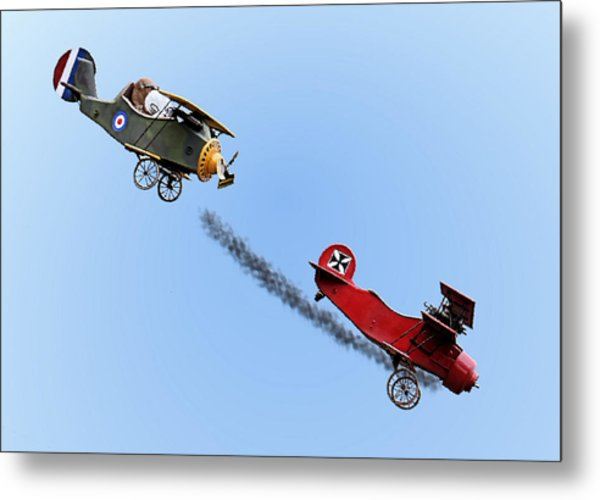 Snoopy And The Red Baron Metal Print