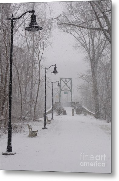 Snow At Bulls Island - 05 Metal Print