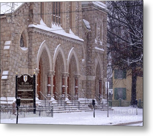 Snow At St. John's Metal Print