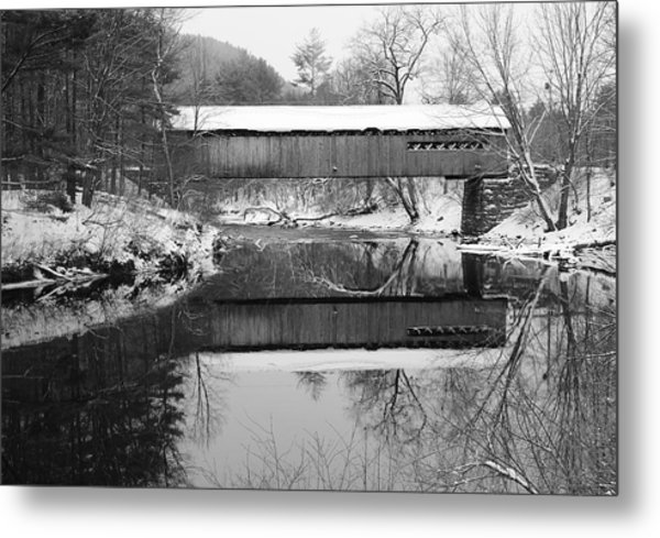 Snow Covered Coombs Metal Print