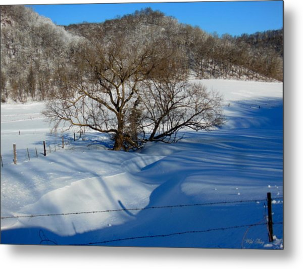 Snow Creek Metal Print