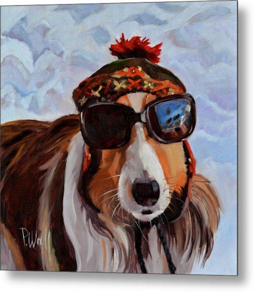 Snow Dog Metal Print