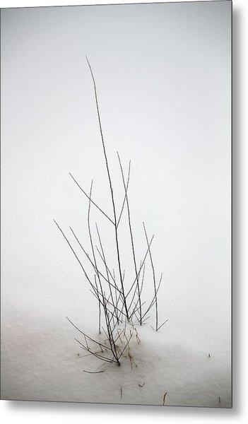 Snow Drifts In Mongolia Metal Print