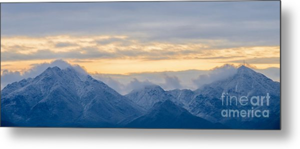 Snow Dusted Mcdowell Mountains Metal Print