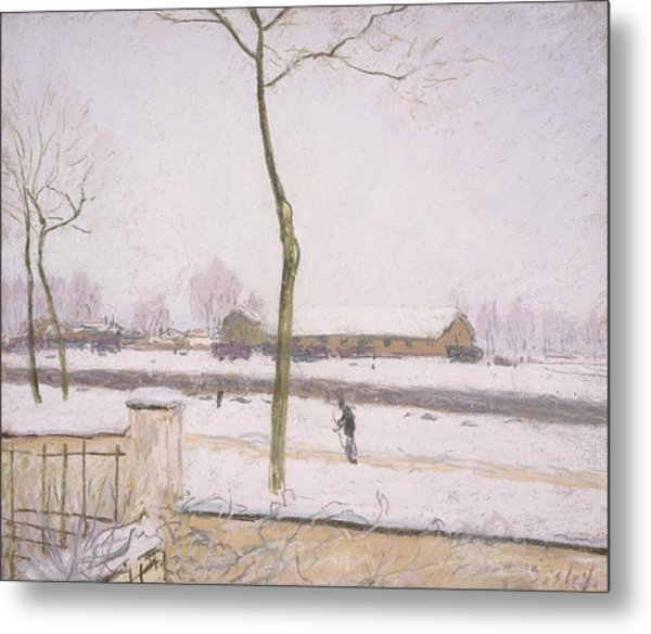 Snow Effect Effet De Neige Pastel On Paper C. 1880-1885 Metal Print