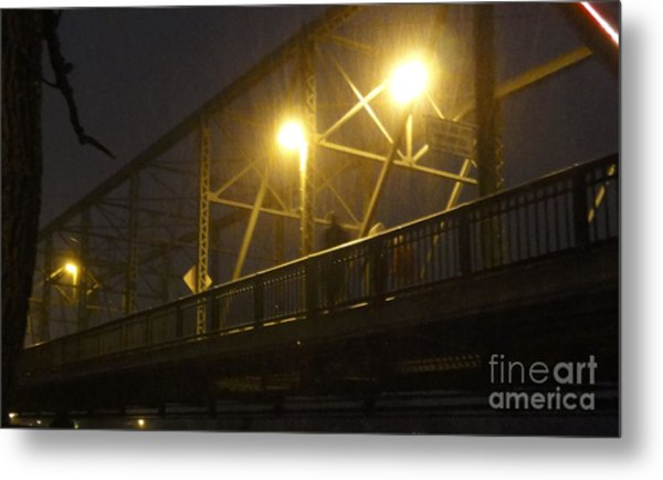 Snow In Lambertville Metal Print