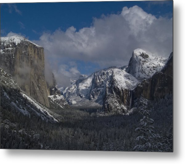 Snow Kissed Valley Metal Print