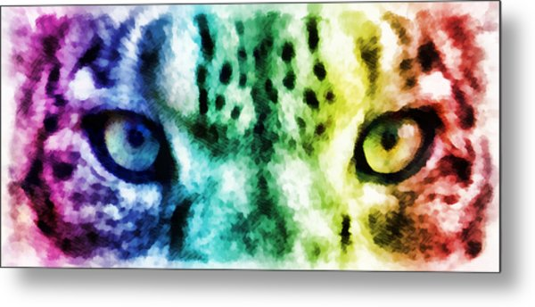 Snow Leopard Eyes 2 Metal Print